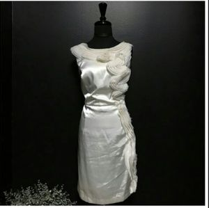 DAVID'S BRIDAL Ruffle Trim Party Dress (Sz 16)